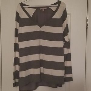 Banana Republic striped vneck sweater